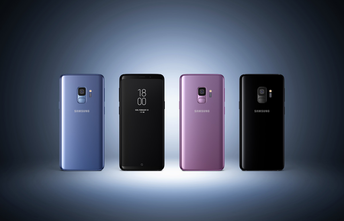 Samsung Galaxy S9 all colours
