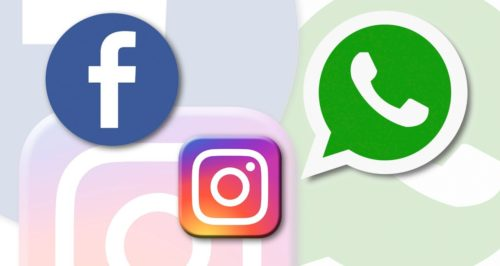 facebook instagram whatsapp messenger logos