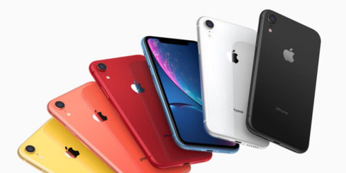 iPhone XR range of colours