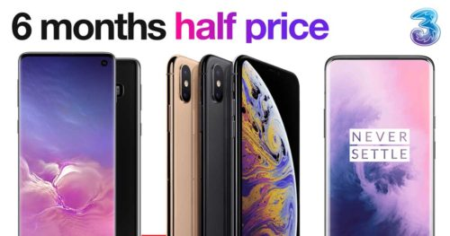 Three 6 months half price phones