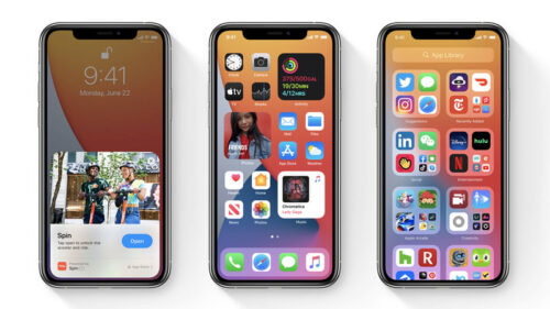 iOS 14 screenshots on an iPhone